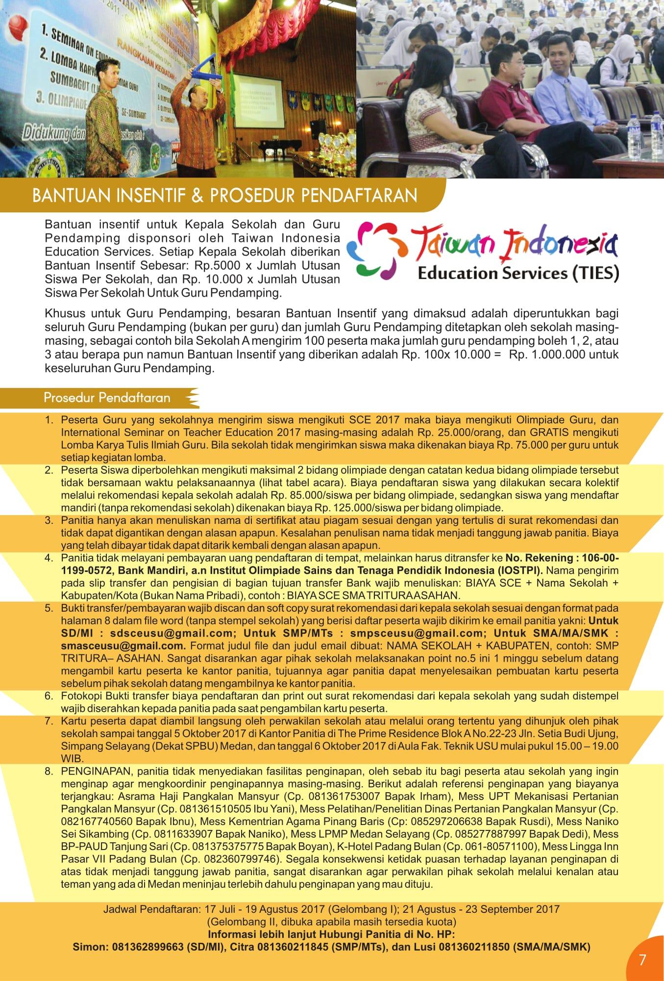 Prosedur Pendaftaran SCE 2017 - Mula Sigiro